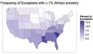 African Ancestry for Self-Identified Whites